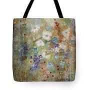 Garden Of White Flowers Tote Bag