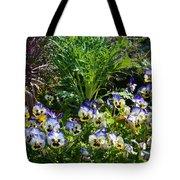 Garden Pansies Tote Bag