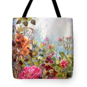 Garden Party/left Portion Tote Bag