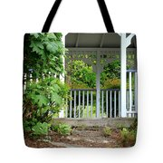 Garden Path And Gazebo Tote Bag