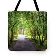 Garden Path In Spring Tote Bag