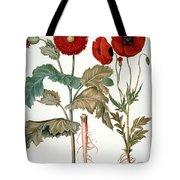 Garden Poppy Tote Bag