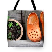 Garden Shoes Waiting Tote Bag
