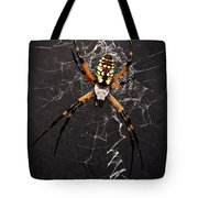 Garden Spider And Web Tote Bag by Tamyra Ayles