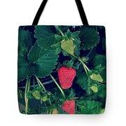 Ripening Garden Strawberries  Tote Bag