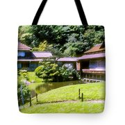 Garden Tea Houses Tote Bag