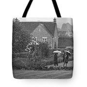 Garden Tour In The Rain Monotone Tote Bag
