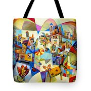 Garden Tower With Butterfly Tote Bag