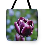 Garden Tulip With Rain Drops On A Spring Day Tote Bag