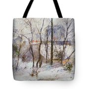 Garden Under Snow Tote Bag