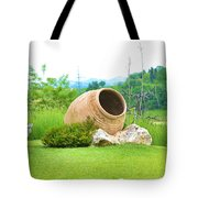 Garden With Amphora. Tote Bag