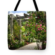 Garden With Roses Tote Bag by Elena Elisseeva