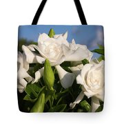 Gardenia Flowers Tote Bag