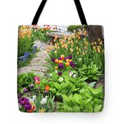 Gardens Of Tulips Tote Bag