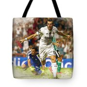 Gareth Bale Celebrates His Goal  Tote Bag