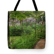 Garfield Park Conservatory Pond And Path Chicago Tote Bag