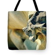 Gargoyle Coming Out Of The Rocks Gabriola Island. Tote Bag