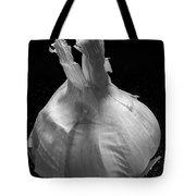 Garlic Bulb B W Tote Bag