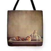 Garlic Cloves Tote Bag by Priska Wettstein