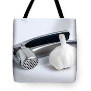 Garlic Press With Garlic Tote Bag by Tom Mc Nemar