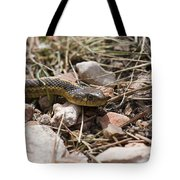 Garter Snake On The Trail In The Pike National Forest Of Colorad Tote Bag