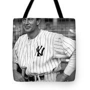 Gary Cooper As Lou Gehrig In Pride Of The Yankees 1942 Tote Bag