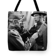 Gary Cooper Getting A Medal Of Honor As Sergeant York 1941 Tote Bag