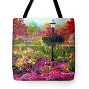 Gas Light In The Garden Tote Bag
