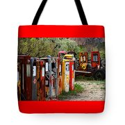 Gas Pump Conga Line In New Mexico Tote Bag