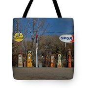 Gas Pumps And Gas Signs Panorama Tote Bag