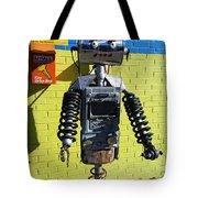 Gas Station Robot Tote Bag