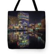 Gas Street Basin At Night Tote Bag