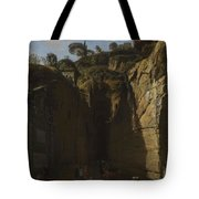 Gaspar Van Wittel  Called Vanvitelli Amersfoort 1652   1736   A View Of The Grotto At Pozzuoli With  Tote Bag