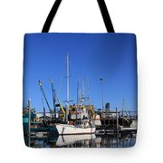 Glassy Harbor Reflection Tote Bag