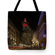 Gastown In Vancouver Bc At Night Tote Bag