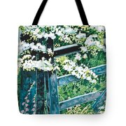 Gate And Blossom Tote Bag