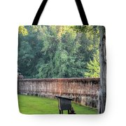 Gate And Brick Wall At Shiloh Cemetery Tote Bag