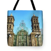 Gate And Cathedral Tote Bag