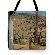Gate Out Of Virginia City Nv Cemetery Tote Bag