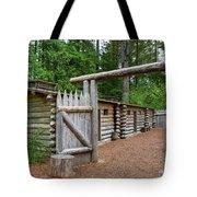 Gate To Log Camp At Fort Clatsop Tote Bag