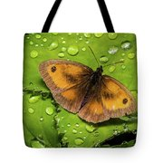 Gatekeeper Butterfly After The Rain. Tote Bag