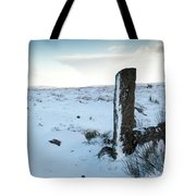 Gatepost In The Snow Tote Bag
