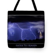 Gates To Heaven Color Poster Tote Bag