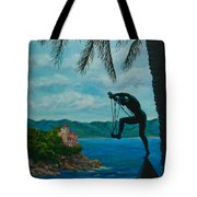 Gateway To Portofino Tote Bag by Charlotte Blanchard