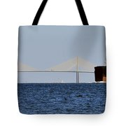 Gateway To Tampa Bay Tote Bag by David Lee Thompson