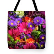 Gathered Garden Flowers Tote Bag