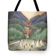 Gathering At The Falls Tote Bag