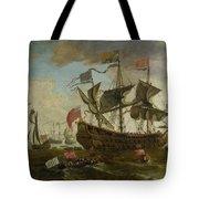 Gathering Of English Ships Tote Bag