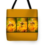 Gathering Pollen Triptych Tote Bag