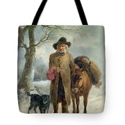 Gathering Winter Fuel  Tote Bag by John Barker